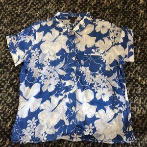 J.crew tropical shirt, never worn